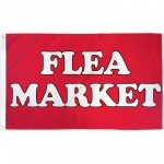 Flea Market Red 3' x 5' Polyester Flag