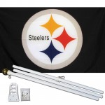 Pittsburgh Steelers Logo 3' x 5' Polyester Flag, Pole and Mount
