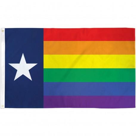 Rainbow Texas 3' x 5' Polyester Flag