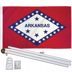 Arkansas State 2' x 3' Polyester Flag, Pole and Mount