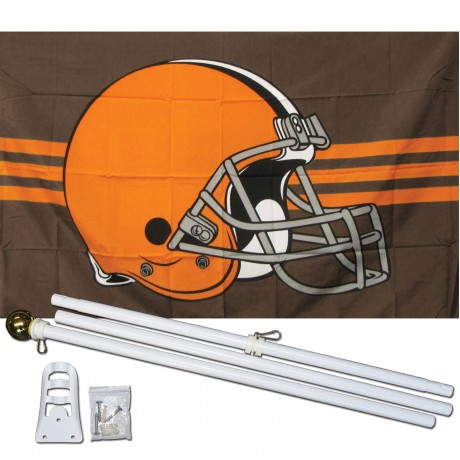 Cleveland Browns 3' x 5' Polyester Flag, Pole and Mount