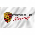 Porsche Racing White 3' x 5' Polyester Flag
