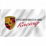 Porsche Racing White 3' x 5' Polyester Flag