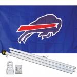 Buffalo Bills Mascot 3' x 5' Polyester Flag, Pole and Mount