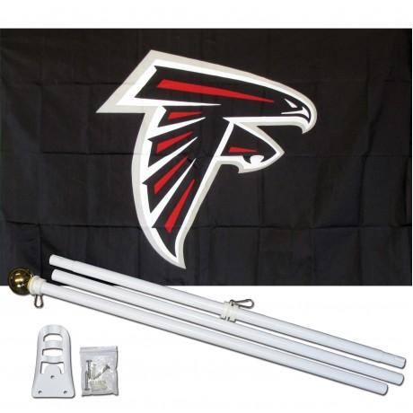 Atlanta Falcons Mascot 3' x 5' Polyester Flag, Pole and Mount