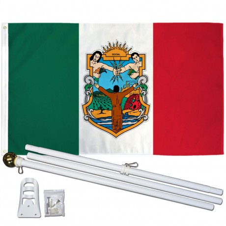 Baja California Mexico State 3' x 5' Polyester Flag, Pole and Mount