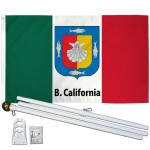 Baja California Sur Mexico State 3' x 5' Polyester Flag, Pole and Mount