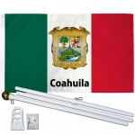 Coahuila Mexico State 3' x 5' Polyester Flag, Pole and Mount