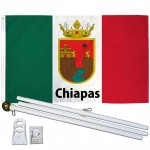 Chiapas Mexico State 3' x 5' Polyester Flag, Pole and Mount