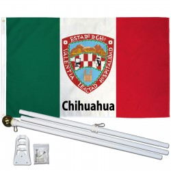 Chihuahua Mexico State 3' x 5' Polyester Flag, Pole and Mount