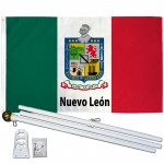 Nuevo Leon Mexico State 3' x 5' Polyester Flag, Pole and Mount