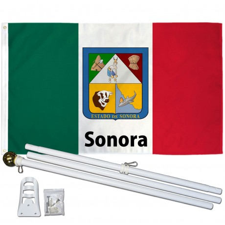 Sonora Mexico State 3' x 5' Polyester Flag, Pole and Mount