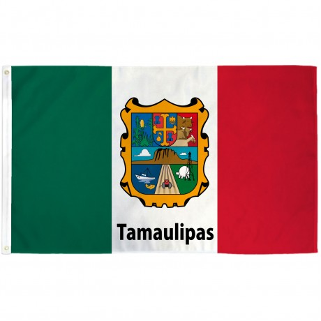 Tamaulipas Mexico State 3' x 5' Polyester Flag