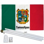 Tamaulipas Mexico State 3' x 5' Polyester Flag, Pole and Mount