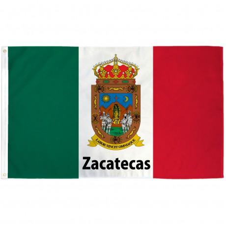 Zacatecas Mexico State 3' x 5' Polyester Flag
