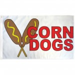 Corn Dogs 3' x 5' Polyester Flag