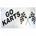 Go Karts 3' x 5' Polyester Flag