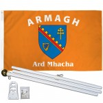 Armagh Ireland County 3' x 5' Polyester Flag, Pole and Mount