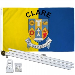 Clare Ireland County 3' x 5' Polyester Flag, Pole and Mount