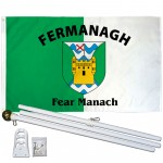 Fermanagh Ireland County 3' x 5' Polyester Flag, Pole and Mount