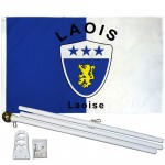Laois Ireland County 3' x 5' Polyester Flag, Pole and Mount