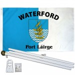 Waterford Ireland County 3' x 5' Polyester Flag, Pole and Mount