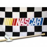NASCAR Checkered 3' x 5' Flag, Pole and Mount