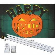 Happy Halloween 3' x 5' Polyester Flag, Pole and Mount