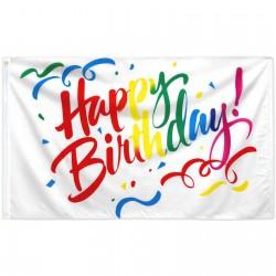 Happy Birthday Confetti 3' x 5' Polyester Flag