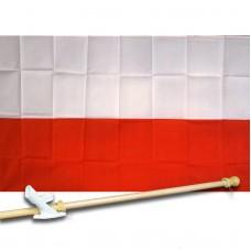 Poland 3' x 5' Flag, Pole And Mount