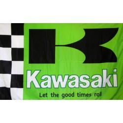 Kawasaki Green 3' x 5' Polyester Flag