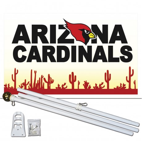 Arizona Cardinals Desert 3' x 5' Polyester Flag, Pole and Mount