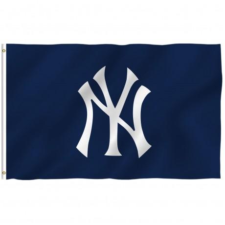 New York Yankees Blue 3' x 5' Polyester Flag