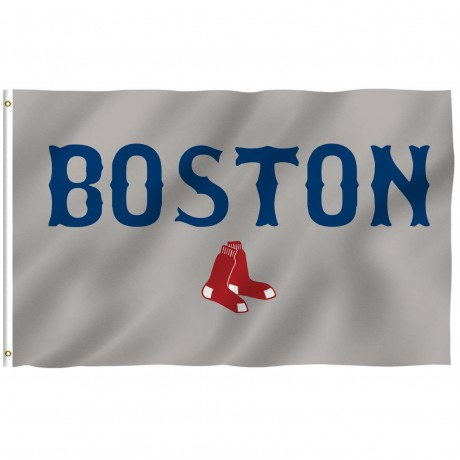 Boston Red Sox Gray 3' x 5' Polyester Flag