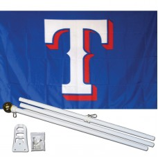 Texas Rangers T 3' x 5' Polyester Flag, Pole and Mount