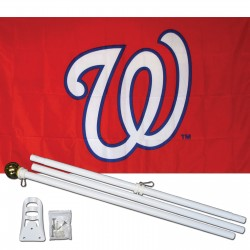 Washington Nationals 3' x 5' Polyester Flag, Pole and Mount