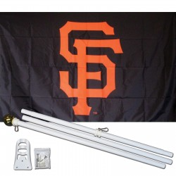 San Francisco Giants 3' x 5' Polyester Flag, Pole and Mount