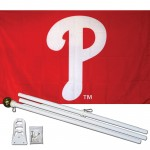 Philadelphia Phillies 3' x 5' Polyester Flag, Pole and Mount