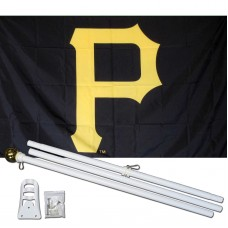 Pittsburgh Pirates 3' x 5' Polyester Flag, Pole and Mount