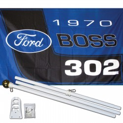 Ford Boss 3' x 5' Polyester Flag, Pole and Mount