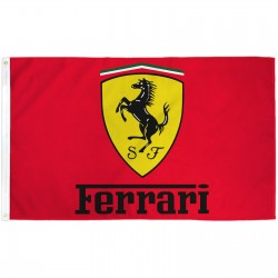 Ferrari Red 3' x 5' Polyester Flag
