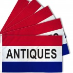 Antiques Patriotic 3' x 5' Polyester Flag - 5 pack