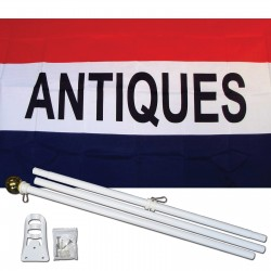 Antiques 3' x 5' Polyester Flag, Pole and Mount
