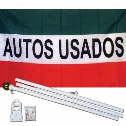 Autos Usados 3' x 5' Polyester Flag, Pole and Mount