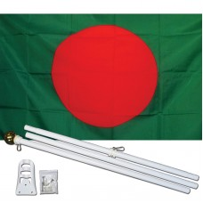 Bangladesh Country 3' x 5' Polyester Flag, Pole and Mount
