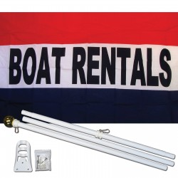 Boat Rentals 3' x 5' Polyester Flag, Pole and Mount
