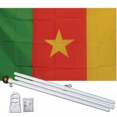 Cameroon Country 3' x 5' Polyester Flag, Pole and Mount