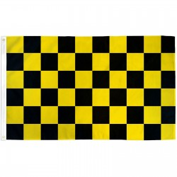 Checkered Black & Yellow 3' x 5' Polyester Flag
