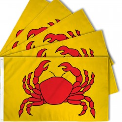 Crab Yellow 3' x 5' Polyester Flag - 5 Pack
