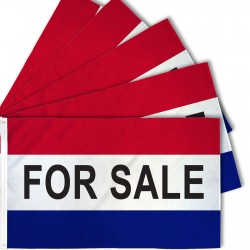 For Sale Patriotic 3' x 5' Polyester Flag - 5 Pack
